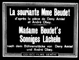 The Smiling Madame Beudet (1923, Fr.) (aka La Souriante Madame Beudet)