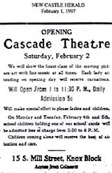 Cascade Theatre Opening - 1907
