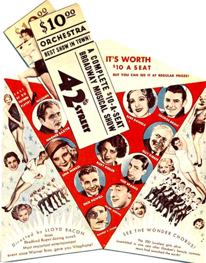 42nd Street 3   Movie Posters Musicals Vintage /& Classic Cinema