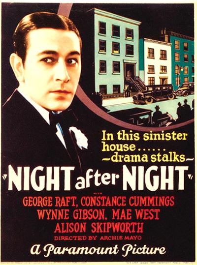 Night After Night 1932 Movie Poster
