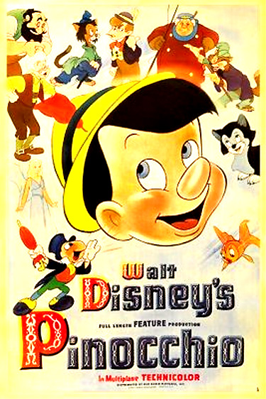 pinocchio 1940 disneys second feature length animated film followed after the success of snow white and the seven dwarfs 1937 and was produced during