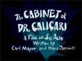 The Cabinet of Dr. Caligari (1919/1920, Germ.)