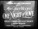 One Night of Love (1934)